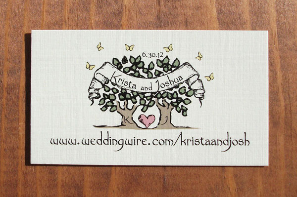 Wedding Website Card