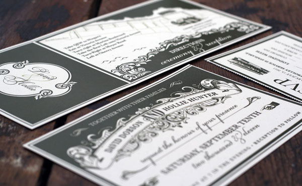 Vintage Custom Ticket Wedding Invitations