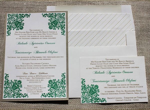Ornate Wedding Invitations