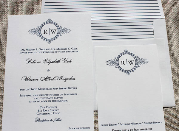 Monogram Wedding Invites