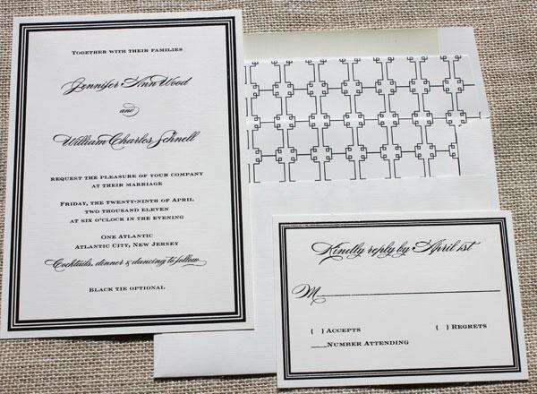 Blush Paperie Modern Wedding Invitations