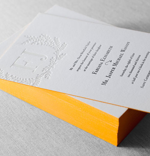 Carneros Letterpress Wedding Invitation