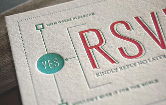 Custom Letterpress RSVP
