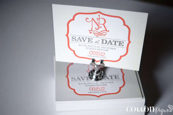 Cotton Paperie Save the Dates
