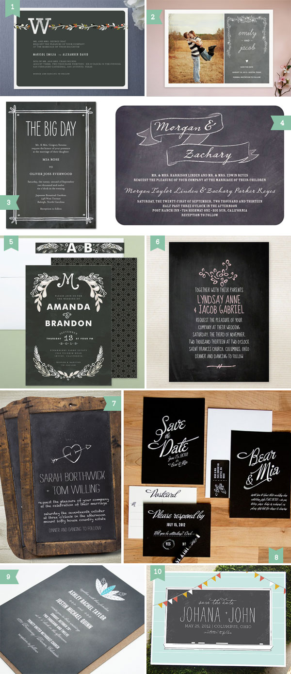 Chalkboard Wedding Invitations 031 - Chalkboard Wedding Invitations