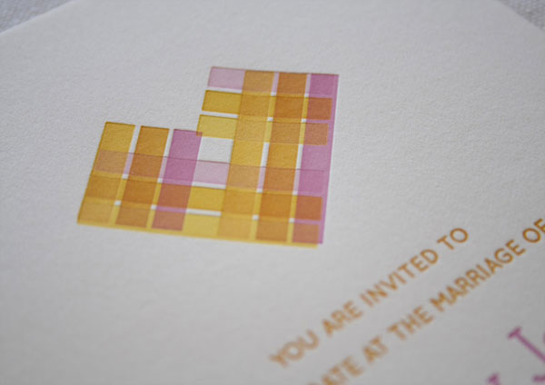 Citrus Letterpress Wedding Invitations