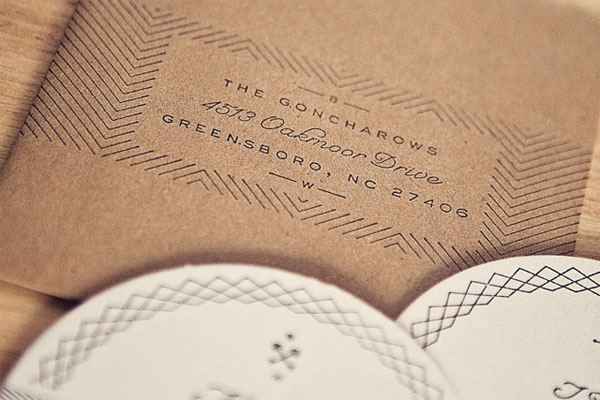 Custom Stamped Wedding Envelopes
