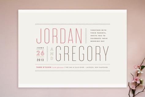 Modern typography wedding invitations column rule column rule wedding invitations stopboris Gallery