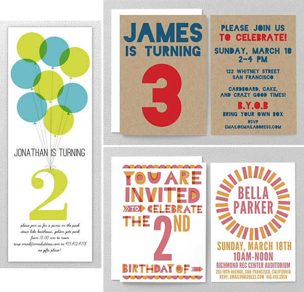 Kids Party Invitations from Hello Lucky Invitation Crush