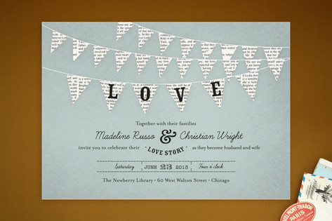 Bunting Banner Wedding Invitations