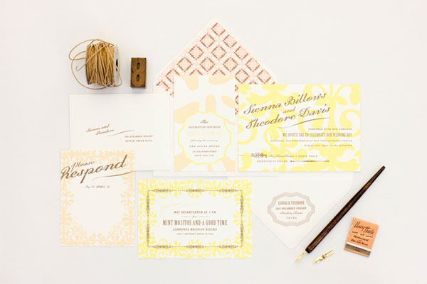 MaeMae Paperie Wedding Invitation Collection