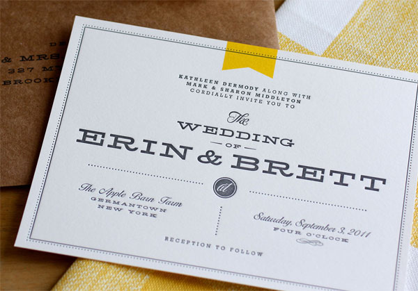MidCentury Modern Wedding Invitations by Bow Arrow