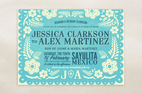 picado wedding invitations, Wedding invitations