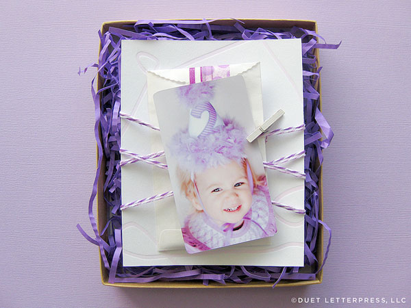Purple Crayon Birthday Party Invitations