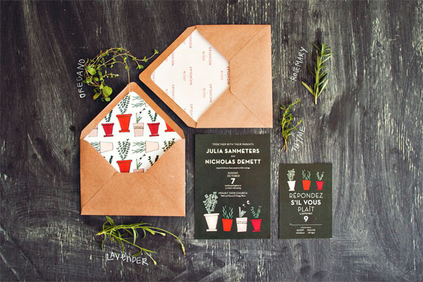 Garden Themed Wedding Invitations