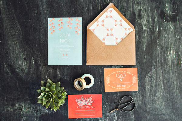 Nature Themed Wedding Invites