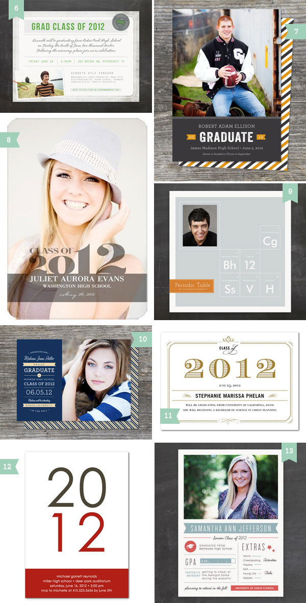 Modern Graduation Announcements