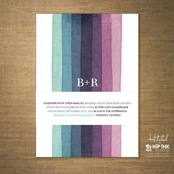 Hitched Wedding Invitations by Hip Ink