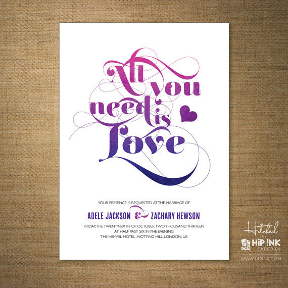 Love Wedding Invitations