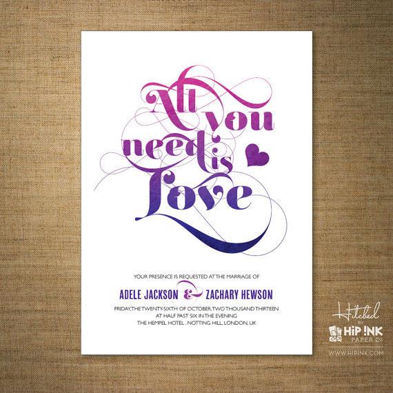 Love Wedding Invitations