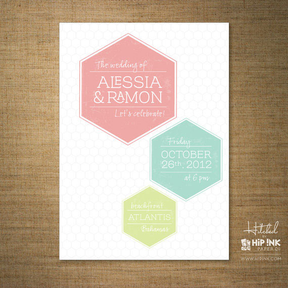 Hexagon Wedding Invitations