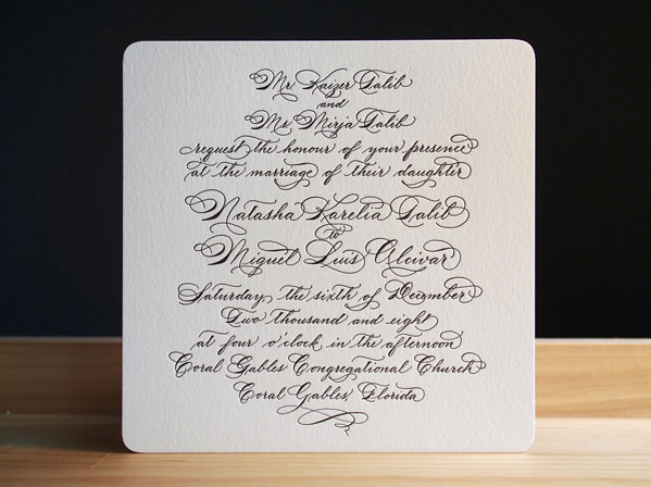 Quill Wedding Invitations