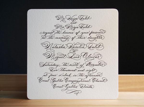 Quill Wedding Invitations