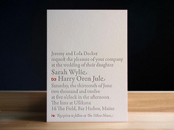 Bookplate Wedding Invites