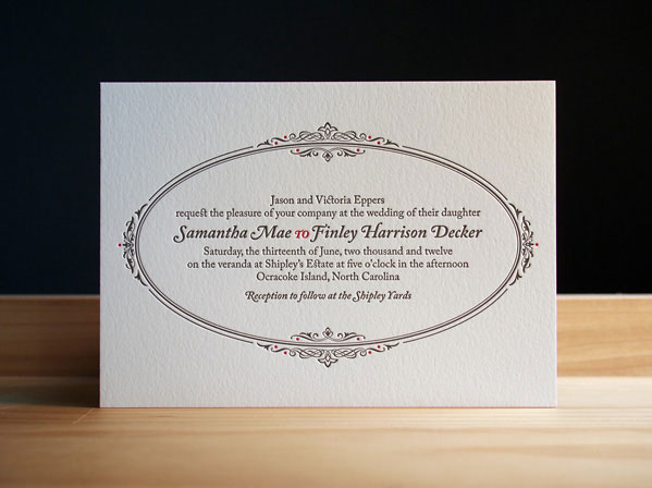 Pewter Wedding Invites