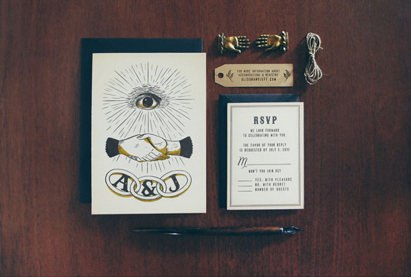 Secret Society Wedding Invitations