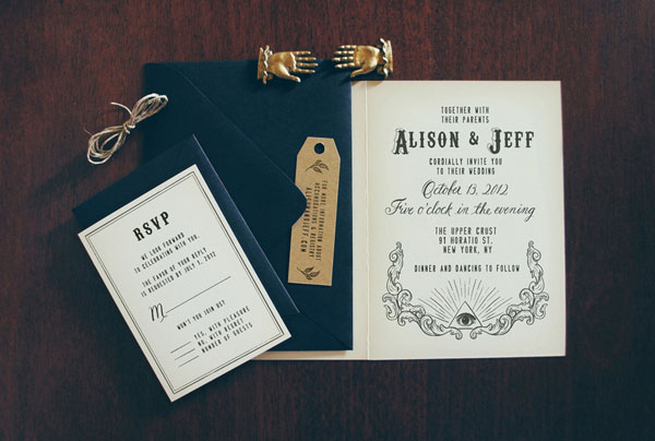 Secret Society Custom Wedding Invitations