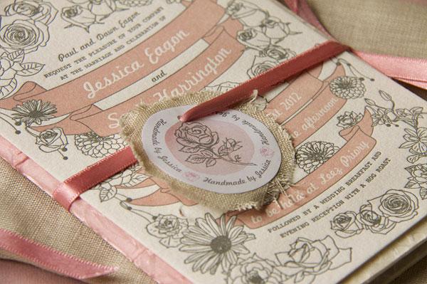 Jessica Eagon Custom Wedding Invitation Design