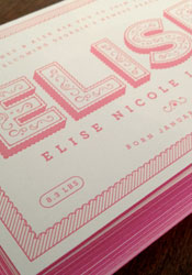 cute-pink-letterpress-birth-announcements