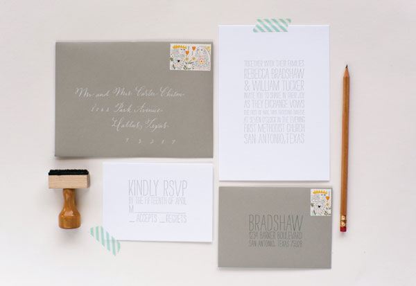 Alki Wedding Invitation Suite