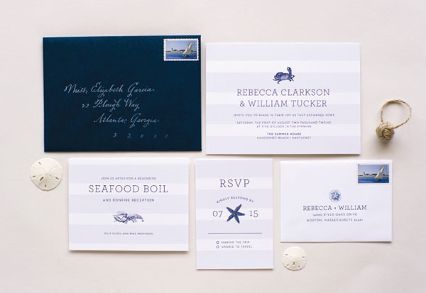 Nantucket Wedding Invitation Suite