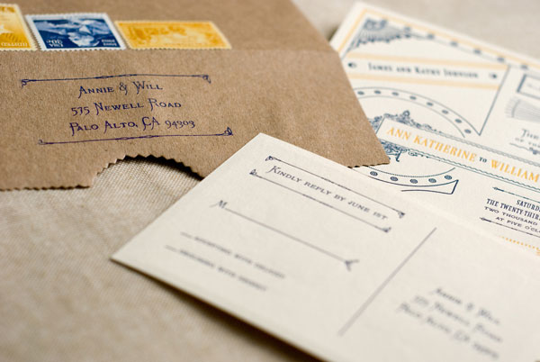 Custom Letterpress RSVP Card