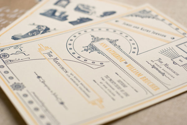 Victorian Ephemera Inspired Wedding Invitations