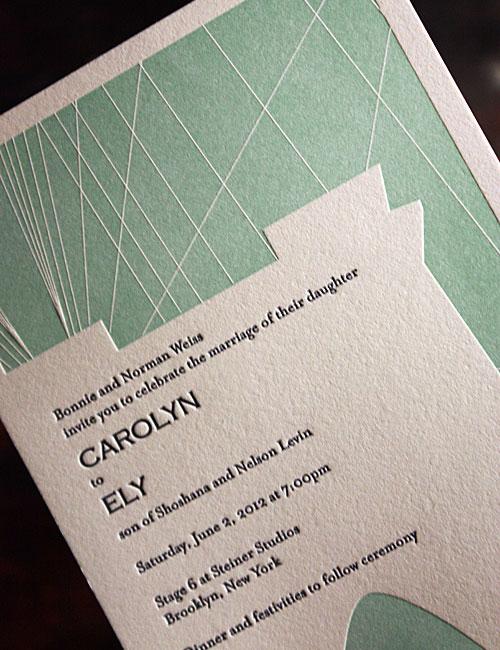 Turquoise + Navy Blue Wedding Invitations