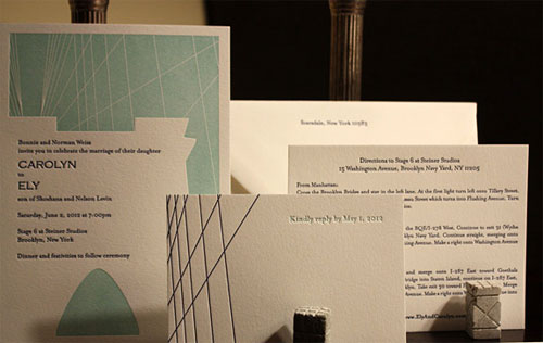 Fulton Street Letterpress Wedding Invitations