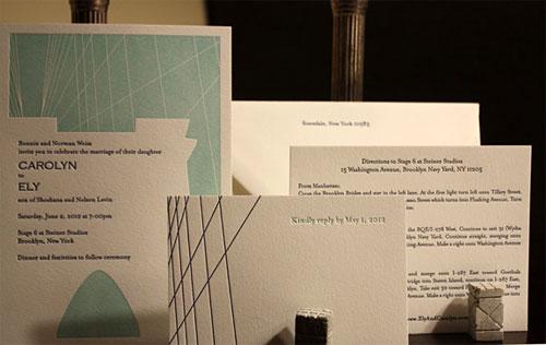 Fulton Street Letterpress Wedding Invitations