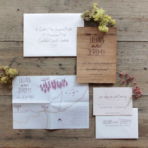 Whimsical Woodland Wedding Invitations Invitation Crush