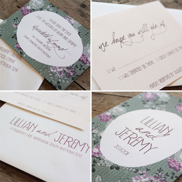 Akimbo Whimsical Woodlan Wedding Invitations