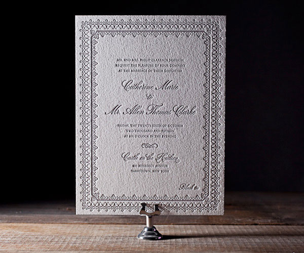 Royal Frame Letterpress Wedding Invitations