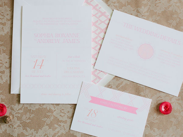 Sophia Wedding Invitation Suite