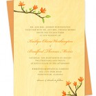 Blooming Branch Wood Wedding Invitations