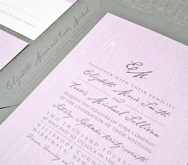 Modern Booklet + Patterned Wedding Invitations