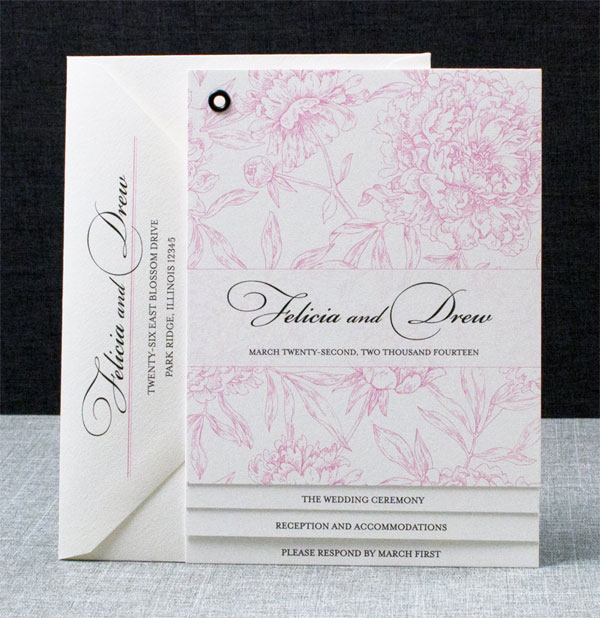 Floral Booklet Wedding Invitations