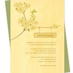 Flowering Dogwood Wood Wedding Invitations