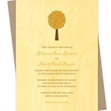Elm Tree Fall Wedding Invitations