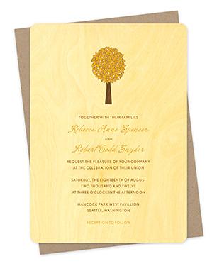 Elm Tree Fall Wedding Invitations